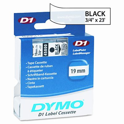 """DYMO                                               D1 Standard Tape Cartridge for Label Makers, 0.75"""" x 23'"""