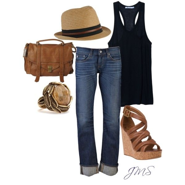 How about that hat? Summertime outfit for sure.
