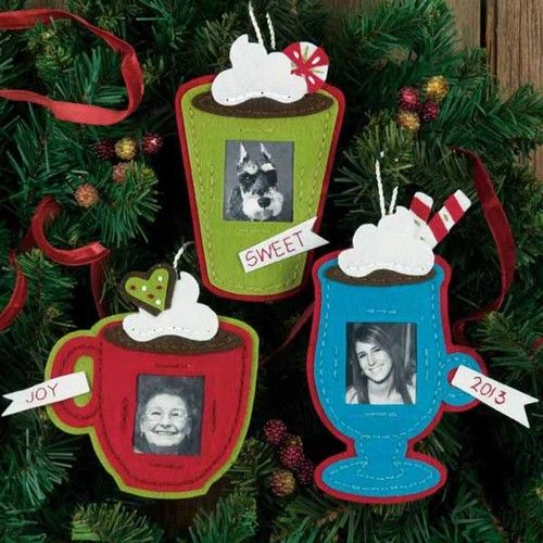 Dimensions #Felt #Applique Kit #FRAMED COCOA #CUPS #Ornamets ♥ #ebay #sale #Christmas #holiday #decor #DIY #project #handcraft #handmade #needlework #stitching #personalize