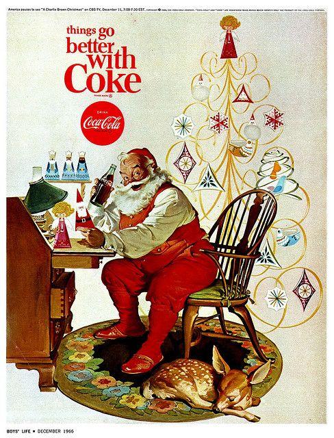 1960's Coca Cola Santa Ad by Haddon Sundblom