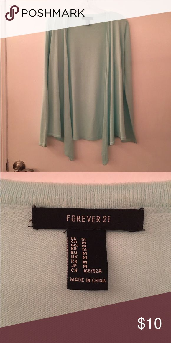 Forever 21 Mint Cardigan Mint cardigan, only used once! Forever 21 Sweaters Cardigans