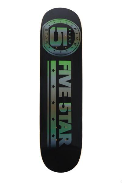 5star Black And Camo Skateboard Deck