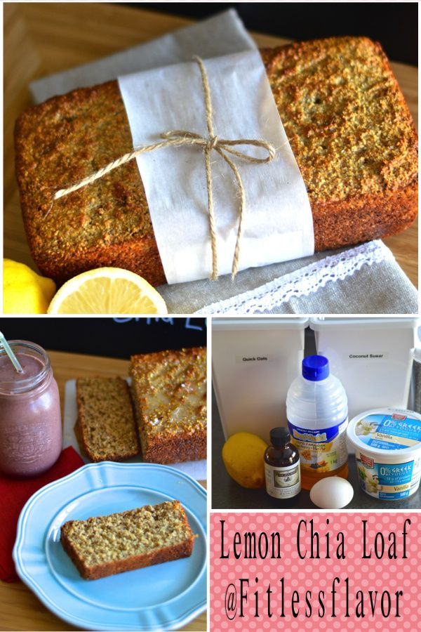 Lemon chia loaf (132 kcal) Portion size and other free meal plans @fitlessflavor