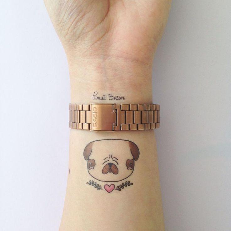NUEVOS TATUAJES TEMPORALES!! Van a estar disponibles hoy y mañana en @libreliebrebazar !! Los espero en Bolivar 8 en el centro! De 12 a 8! #pinutbrein #pug #tattoo