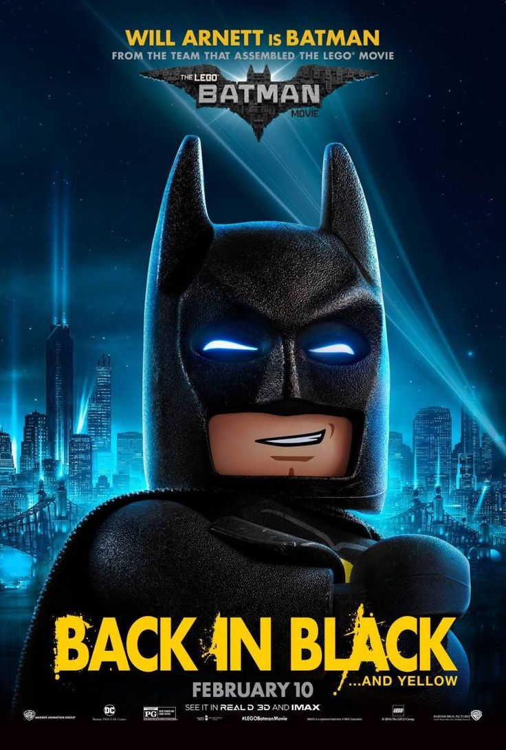 Batman is back in black... and yellow! New posters for The LEGO Batman Movie were released today, and they feature some of Batman's most popular characters.