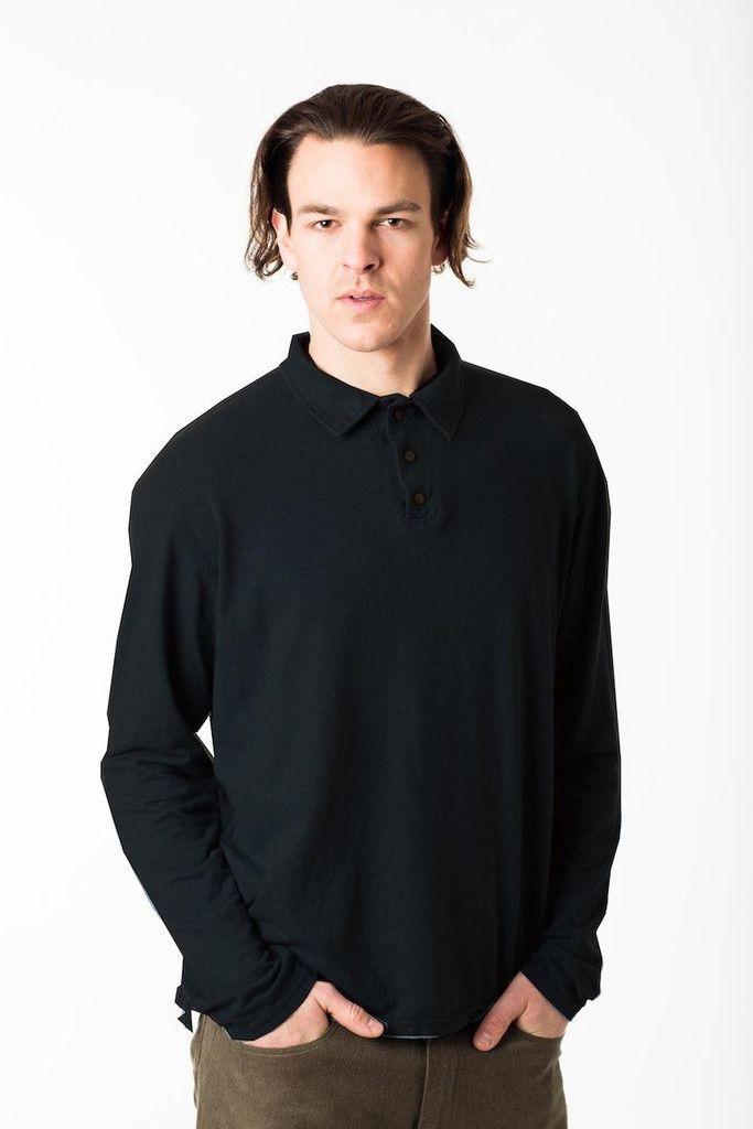 Longsleeve Polo Shirt – Hemp & Company