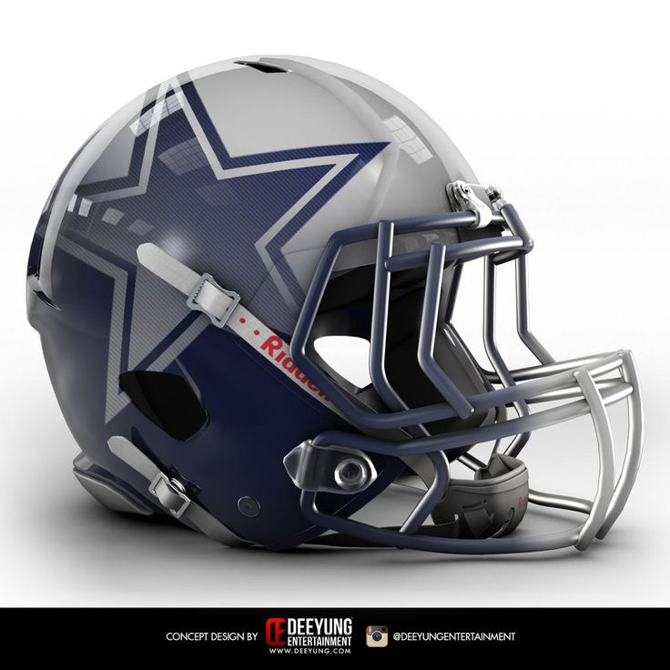 Dallas Cowboys helmet redesigned.