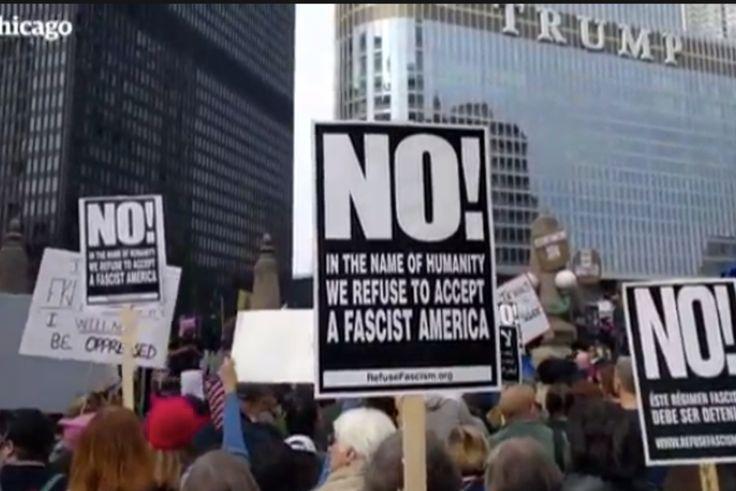 """21/02/2017 - États-Unis. Les Américains inventent le """"Not my President's day"""""""