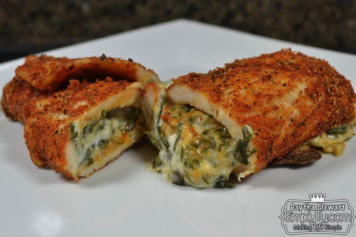 Spinach Dip Stuffed Chicken Breast