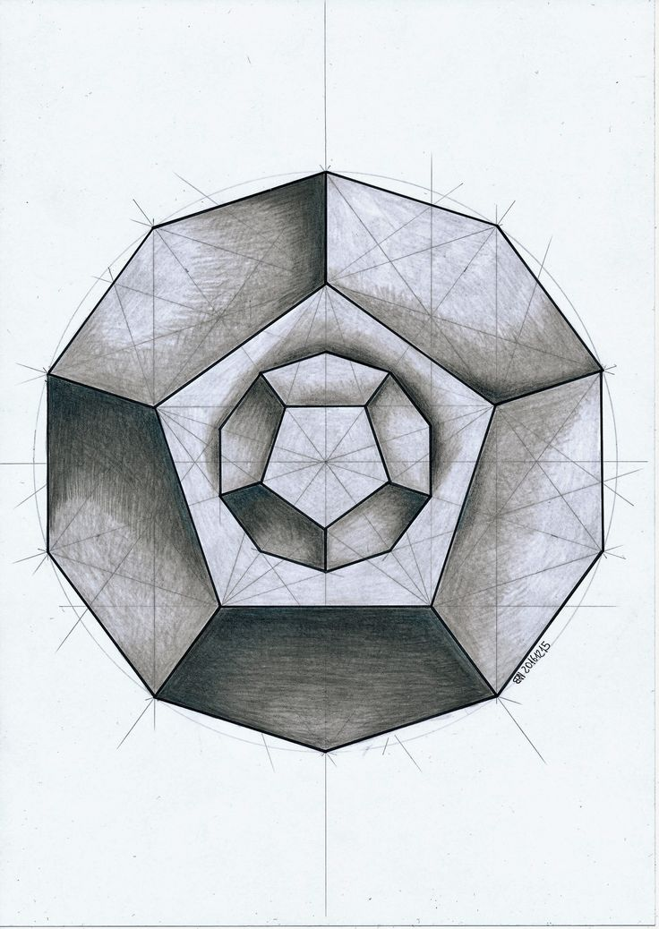 #polyhedra #solid #geometry #symmetry #handmade #pencil #mathart #regolo54 #Escher #pentagon #dodecahedron