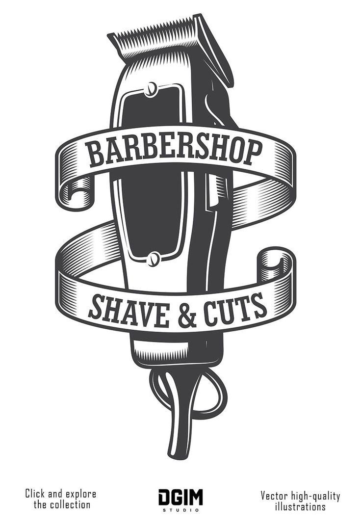 bundle in 2020 Barber shop, Salon logo