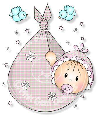 Sello de paquete digital (Digi) bebé niña