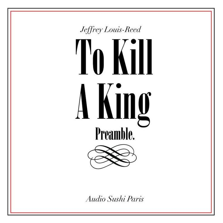 """Check out my new single """"To Kill a King (Preamble)"""" distributed by DistroKid and live on iTunes!"""
