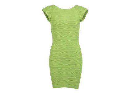 Limetkově zelené minišaty AX Paris Ripple  #limete #dress