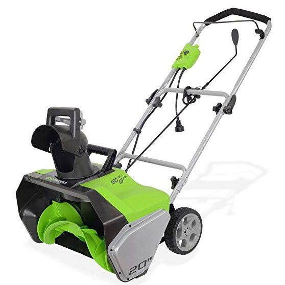 GreenWorks 13 Amp 20-Inch Corded Snow Thrower $46 - Retail is $199! - https://www.swaggrabber.com/?p=331959