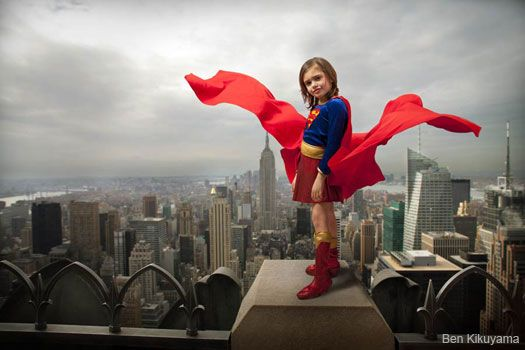 Super hero photo shoot = AWESOME