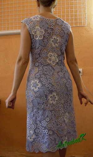 Очарование ирландского кружева - A Denim dress