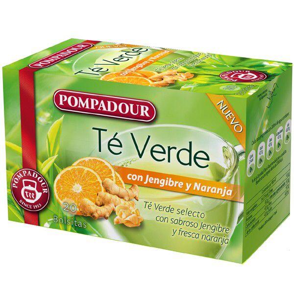 Infusión de té verde de Pompadour, rica....