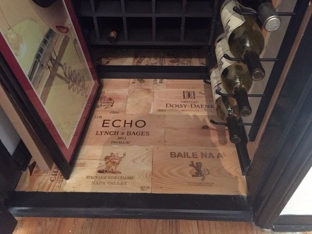 Wine Panel Floor In Cool Re Made Closet!   Www.winepine.com