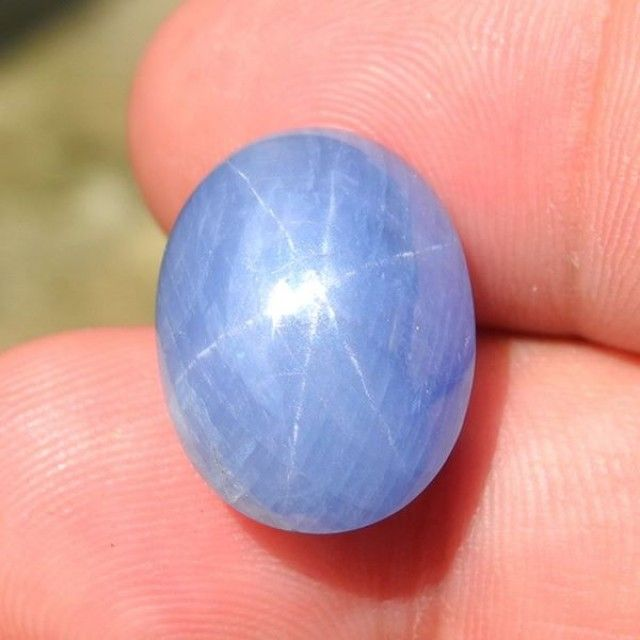 21.87cts,  Blue Star Sapphire,  Certified, Untreated,  Unheated,  Mogok star  sapphire, cabochon sapphire