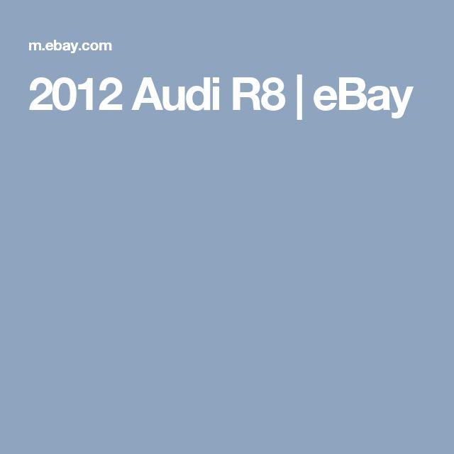 2012 Audi R8  | eBay