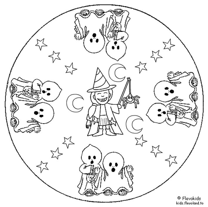 witch mandala coloring pages - photo#17