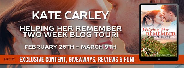 Rainy Days and Pajamas: .Excerpt & Giveaway: Helping Her Remember by Kate Carley