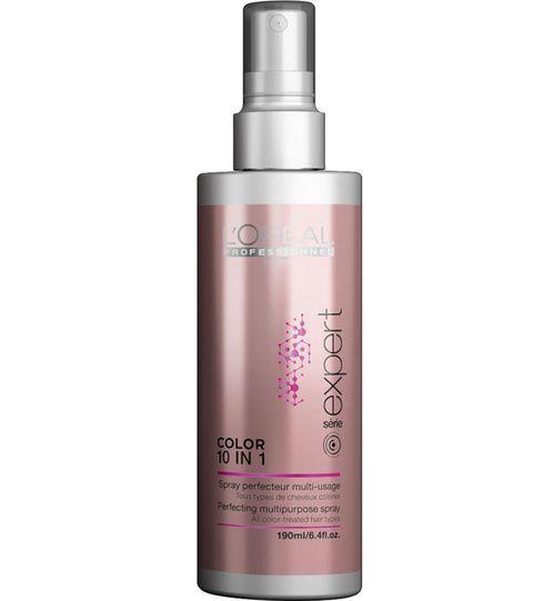 Brume spray pour cheveux colorés Color 10 in 1 L'Oréal Paris http://www.vogue.fr/beaute/shopping/diaporama/9-essentiels-beaut-anti-uv-et-anti-pollution-pour-des-aprs-midi-en-terrasse-en-ville/21146/carrousel