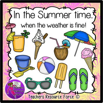 In the Summer time when the weather is fine - realistic clip art!