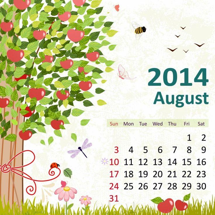 8 August 2014 780x780 2014 Calendar. all Months [12 JPEGs]