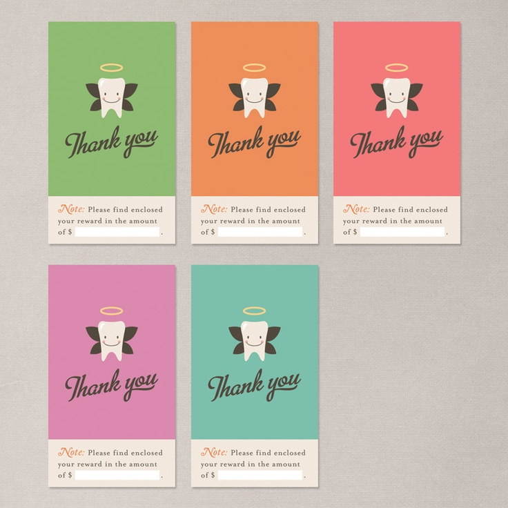Tooth fairy business cards by Nocciola Design.