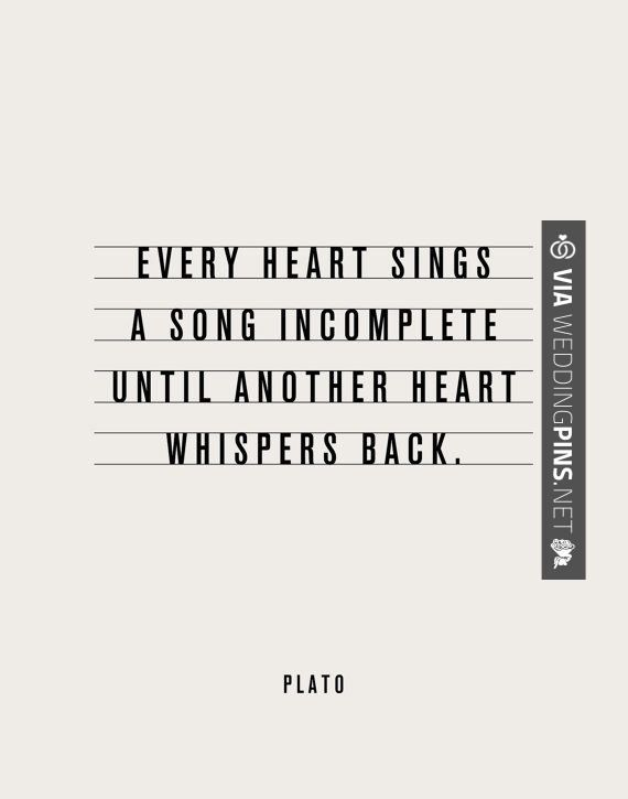 Every Heart Sings A Song Incomplete Until Another Whispers Back Inspirational Quote Motivational Print Art By TheMotivatedType