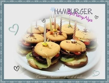 HAMBURGER Cake... pour les 10 ans de Nathan