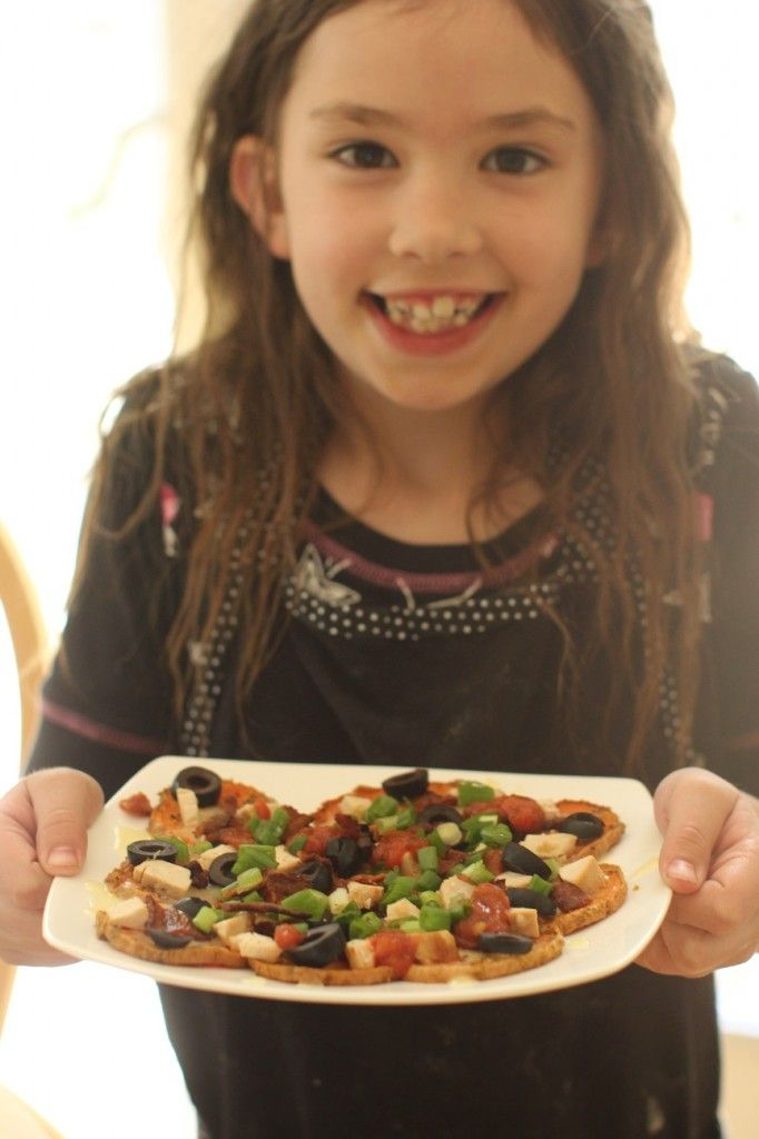Cooking with Kids: a plate full of yummy, healthy SWEET POTATO NACHOS