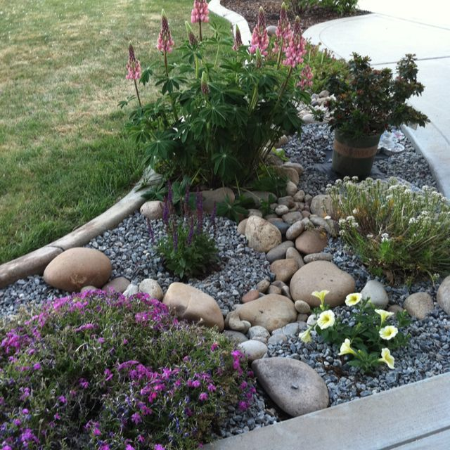 26 Fabulous Garden Decorating Ideas With Rocks And Stones: 404 Best FRONT YARD LANDSCAPING IDEAS Images On Pinterest