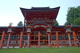 Nara, Japan. The Kasuga Grand Shrine is the Shinto shrine of the Fujiwara family.