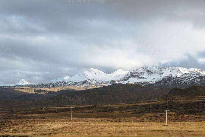Autumn Light over Snowy Mountains by Premium Stock Photos on @creativemarket