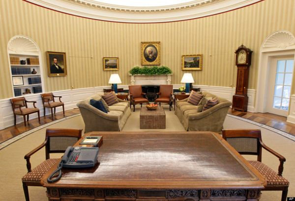 Oval Office - its smaller than it looks