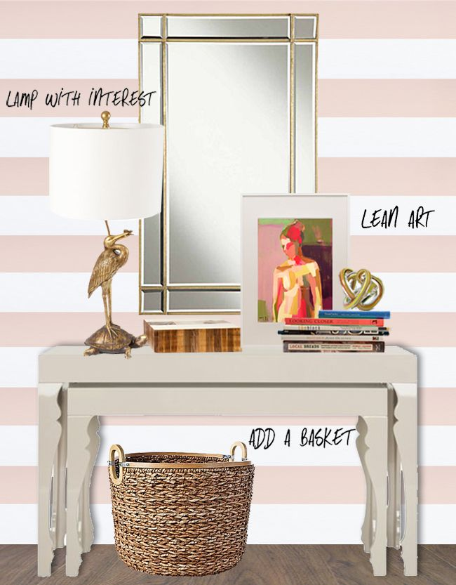Foyer Table Styling : Best images about coffee table decorating ideas on