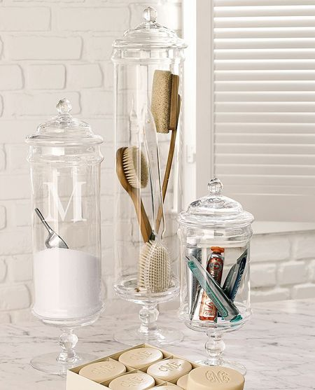 Elegant Apothecary Jars Belong In The Bathroom Too