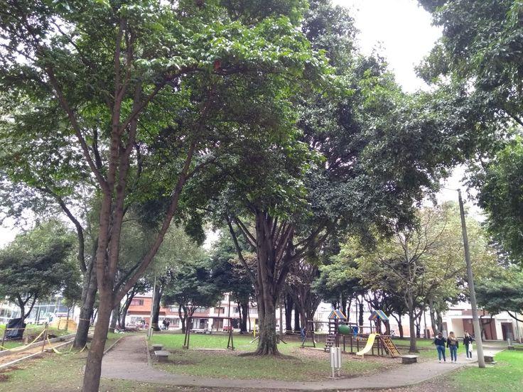 Parque del barrio Modelia, en Bogotá.