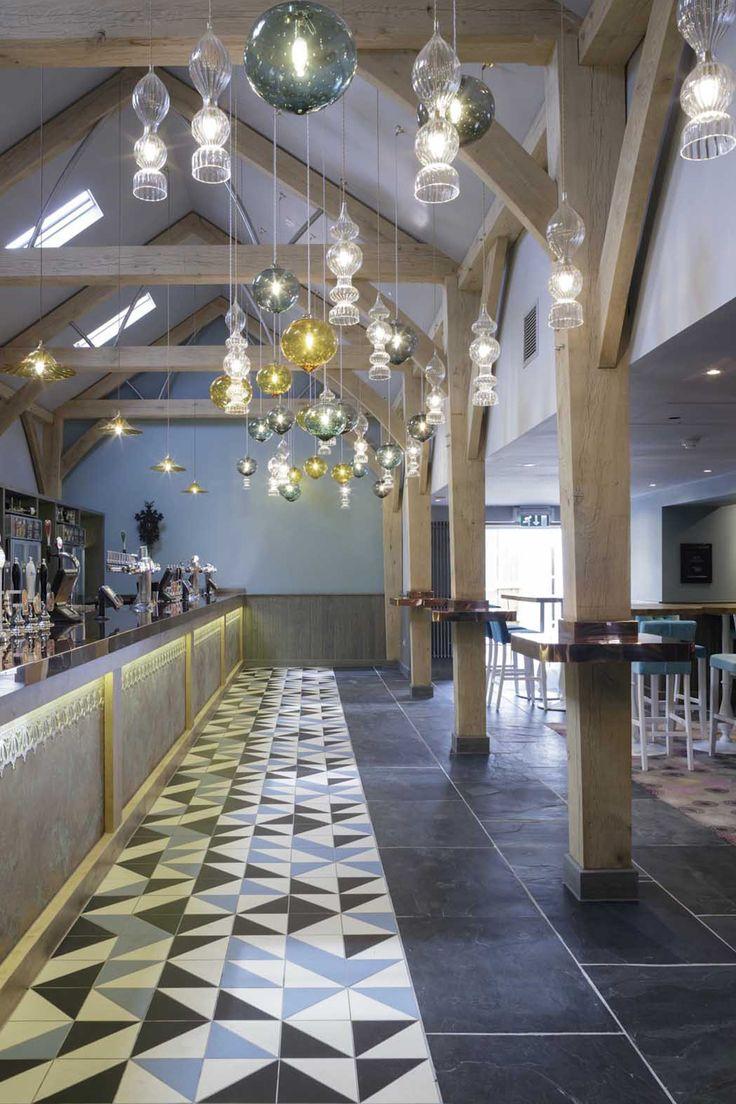 glass lighting pendants. Hand Blown Glass Pendant Lighting Over Bar By Rothschild \u0026 Bickers - The Star Inn, Pendants B