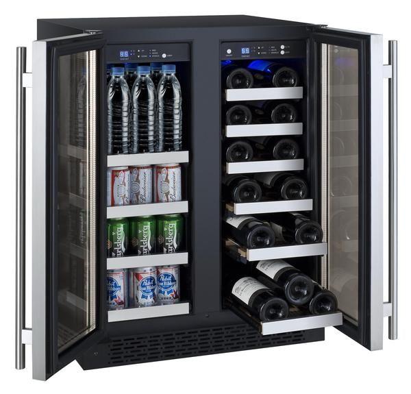 Allavino Flexcount Series Two Door Wine Refrigerator Beverage Center Vswb 2ssfn With Images Beverage Refrigerator Built In Wine Refrigerator Wine Refrigerator