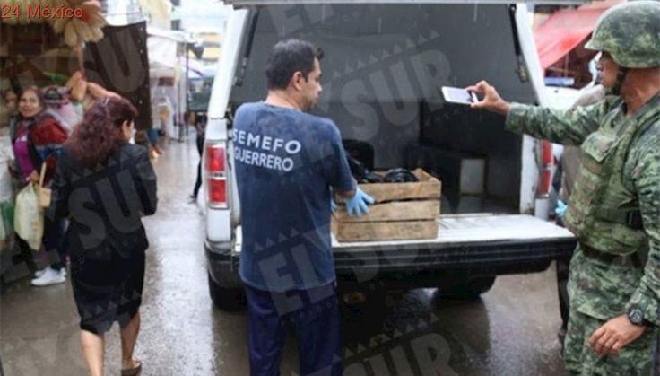 Abandonan dos cabezas humanas en mercado de Chilpancingo
