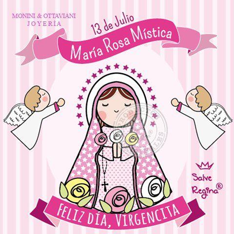 Hoy es la festividad de María Rosa Mística! La rosa blanca simboliza el espíritu de oración La rosa roja, el espíritu de reparación y sacrificio. La rosa dorada o amarilla, el espíritu de penitencia. Virgen Inmaculada, Rosa Mística, en honor de tu Divino Hijo nos postramos delante de ti, implorando la misericordia de Dios. No por nuestros méritos, sino por la bondad de tu corazón maternal concédenos ayuda y gracia con la seguridad de escucharnos. Feliz día, Virgencita! Amén