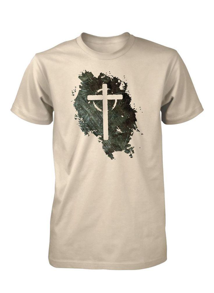 Jesus Vive Cruz Vacia Grunge Camiseta Cristiana