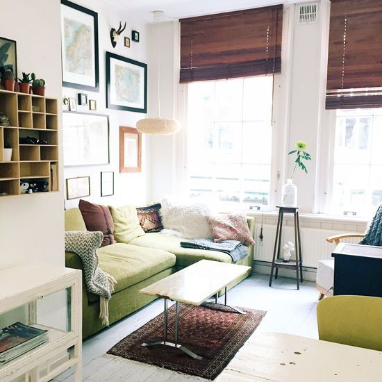From Designlovefest.com · Living Room With Green Sofa Part 94
