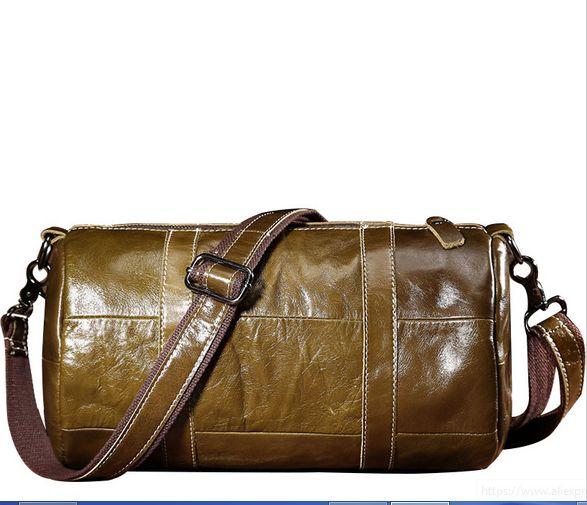 Unisex Vintage Handbag Travel Leisure Shoulder Crossbody Bag Genuine Leather