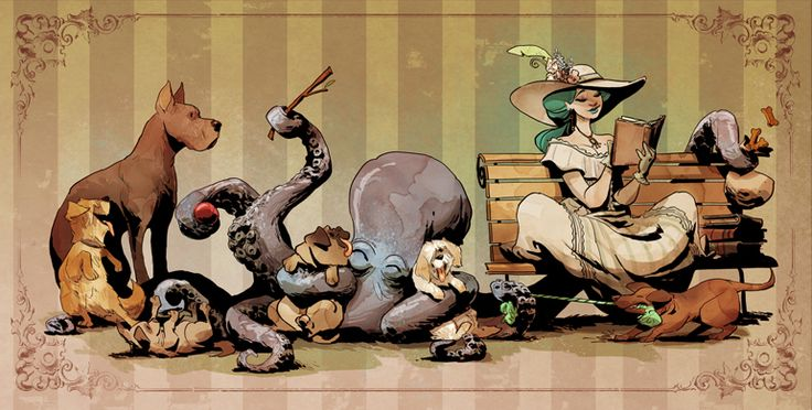 Brian Kesinger. Otto and Victoria. Steampunk art.