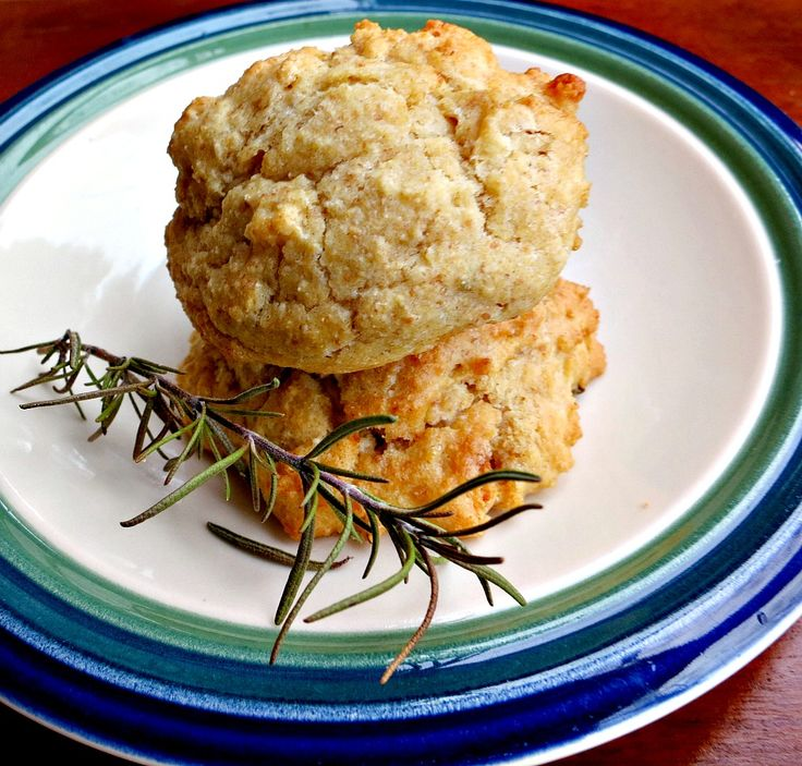 Parmesan Rosemary Drop Biscuits